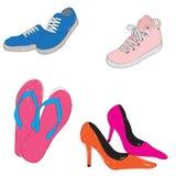 鞋子时尚 免版税库存图片