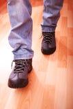 鞋子步骤 库存图片