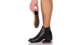 鞋子波兰语 免版税库存照片