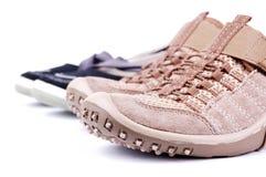 鞋子炫耀 免版税库存照片