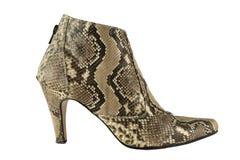 鞋子由蛇皮制成 免版税库存图片