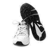 鞋子白色 免版税库存图片