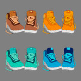鞋子的传染媒介例证 免版税库存照片