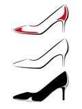 鞋子的黑白图象 库存照片