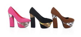 鞋子皮肤蛇 免版税图库摄影