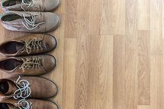 鞋子称呼汇集生活方式鞋类大时尚的特写镜头 库存照片
