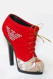 鞋子红色 免版税库存图片
