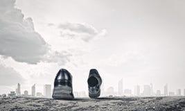 鞋子走 免版税图库摄影