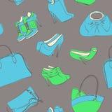袋子和鞋子 图库摄影