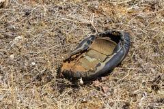 鞋子遗骸  库存照片