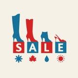 鞋子销售 免版税库存图片