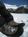 鞋子雪提洛尔蒂罗尔 免版税库存照片
