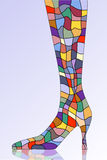 鞋子风格化向量 免版税库存图片