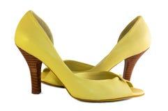鞋子黄色 库存图片