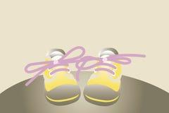 鞋子黄色 免版税库存图片