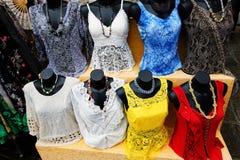 鞋带妇女衣物在穆拉诺岛 E 免版税图库摄影