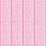鞋带模式粉红色无缝的丝绸镶边薄纱 库存照片
