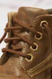 鞋带鞋子 免版税图库摄影