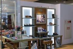 鞋店在101商业区 库存图片