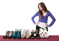 鞋类批次 库存图片