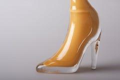 鞋类玻璃 库存照片