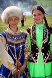 鞑靼人的女孩 免版税库存照片