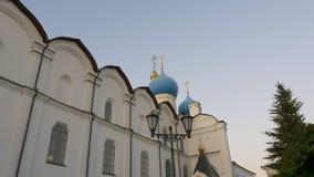 鞑靼斯坦共和国的喀山克里姆林宫首要历史的城堡,位于在城市喀山 移动式摄影车射击 股票录像