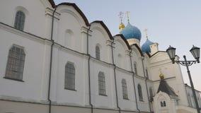 鞑靼斯坦共和国的喀山克里姆林宫首要历史的城堡,位于在城市喀山 17第19个通告大教堂世纪城市哈尔科夫地标乌克兰 股票录像