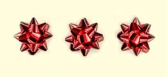 鞠躬红色 美好的圣诞节设计例证向量 新年` s假日 免版税库存照片