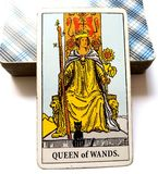 鞭子占卜用的纸牌的女王/王后 免版税库存图片