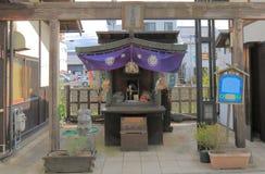 鞭打寺庙历史街道马塔莫罗斯长野日本 图库摄影