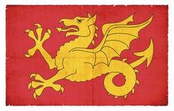 韦塞克斯大英国难看的东西旗子  免版税库存照片