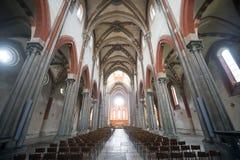韦尔切利, Sant'Andrea教会  免版税库存照片