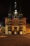 韦尔尼格罗德在晚上,德国 库存图片