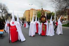 在复活节星期一的圣周,安大路西亚,西班牙 图库摄影
