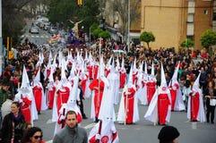 在复活节星期一的圣周,安大路西亚,西班牙 免版税库存图片