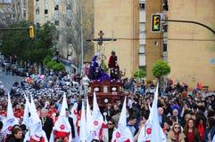 在复活节星期一的圣周,安大路西亚,西班牙 免版税库存照片