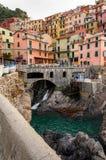 韦尔纳扎在五乡地,意大利 免版税库存图片