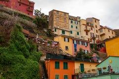 韦尔纳扎在五乡地,意大利 库存照片