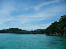 韦岛海滩 免版税库存照片