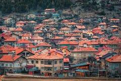 韦林格勒巴尔干的温泉首都在罗多彼州Mountsins保加利亚 库存图片