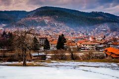 韦林格勒巴尔干的温泉首都在罗多彼州Mountsins保加利亚 免版税库存图片
