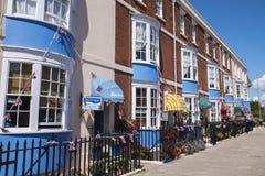 韦茅斯沿海岸区的宾馆 免版税库存图片