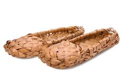 韧皮俄语鞋子 图库摄影