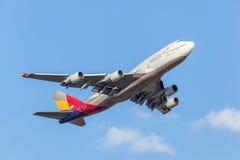 韩亚航空波音747-400 图库摄影
