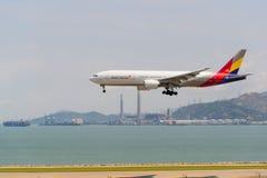 韩亚航空 库存照片