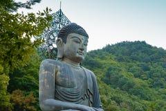 韩国人菩萨雕象 免版税库存图片