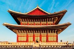 韩国传统建筑学景福宫宫殿在韩国 库存照片
