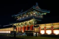 韩国传统房子 免版税库存照片