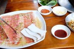 韩国传统烹调 库存图片